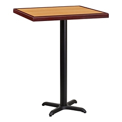 "Bar Height Table with X-Base - 30""W x 30""D, 44342"