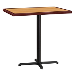"Bar Height Table with X-Base - 42""W x 30""D, 44347"