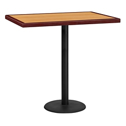 "Bar Height Table with Round Base - 42""W x 30""D, 44348"