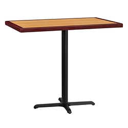 "Bar Height Table with X-Base - 48""W x 30""D, 44351"