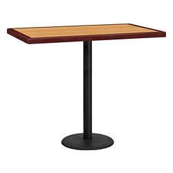 "Bar Height Table with Round Base - 48""W x 30""D, 44352"