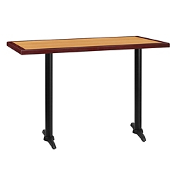 "Bar Height Table with Two T-Bases - 60""W x 30""D, 44355"