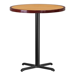 "Bar Height Table with X Base - 36""DIA, 44360"