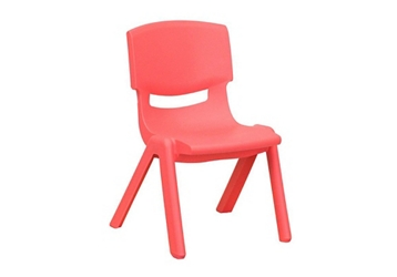 "Plastic 10.5""H Armless Stack Chair, 51687"
