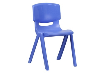 "Plastic 18""H Armless Stack Chair, 51691"