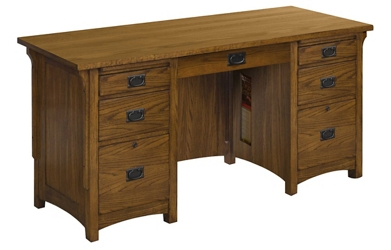 "Double Pedestal Desk 62""W x 26""D, 14695"