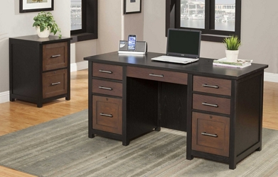 Double Pedestal Desk and File Set, 14883