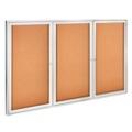 "Aluminum Frame Corkboard - 72"" x 48"", 80115"