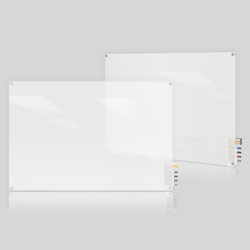 3' W x 2' H Radius Corner Frosted Glass Board, 80491