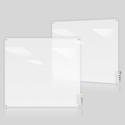 4' W x 4' H Radius Corner Frosted Glass Board, 80493