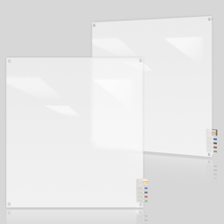 4' W x 4' H Square Corner Frosted Glass Board, 80503