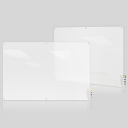 8' W x 4' H Square Corner Frosted Glass Board, 80505