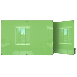 8' W x 4' H Square Corner Glass Board, 80510