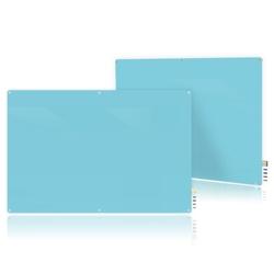 6' W x 4' H Magnetic Radius Corner Glass Board, 80514