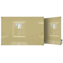 4' W x 3' H Magnetic Square Corner Glass Board, 80517