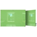 8' W x 4' H Magnetic Square Corner Glass Board, 80545