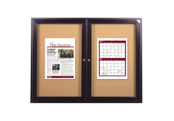 "Indoor Bronze Tone Bulletin Board 48""x36"", 80747"