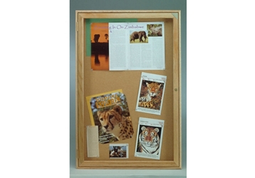 "Indoor Oak Bulletin Board 24""x36"", 80754"