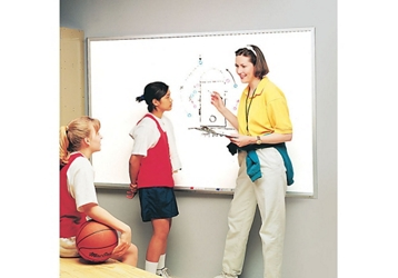 Melamine White Board with Aluminum Frame 3'W x 2'H, 80833