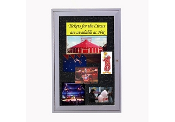 "24"" W x 36"" H Enclosed Tack Board, 80972"