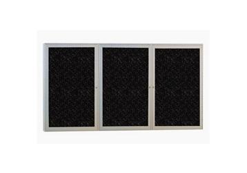 """72"""" W x 36""""H Three Door Enclosed Tack Board, 80974"""