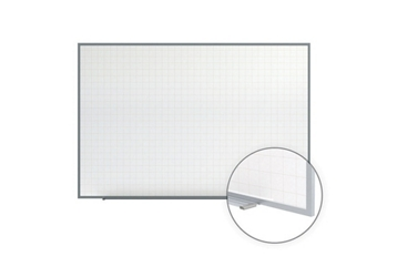 "Phantom Magnetic Whiteboard with Grid Lines - 8' x 4"", 80931"
