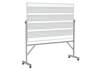 Reversible Whireboard with Music Staff Lines and Blade Tray - 4' x 6', 80942