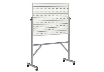 Reversible Whiteboard with Penmanship Lines and Box Tray - 3' x 4', 80945