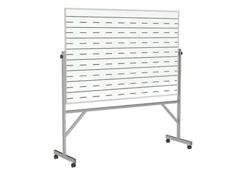 Reversible Whiteboard with Penmanship Lines and Blade Tray - 4' x 6', 80946