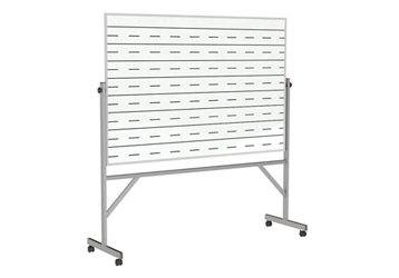 Reversible Whiteboard with Penmanship Lines and Box Tray - 4' x 6', 80658