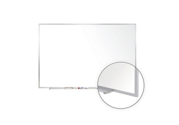Porcelain White Board with Aluminum Frame 3'W x 2'H , 80977