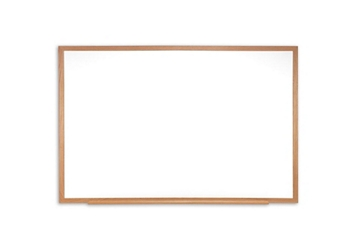 Porcelain White Board with Solid Oak Frame 4'W x 3'H , 80982