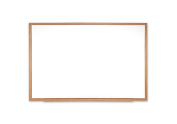 Porcelain White Board with Solid Oak Frame 5'W x 4'H , 80984