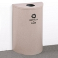 Half Round Painted Bottles and Cans Recycling Bin, 85757