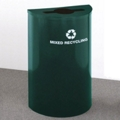 Half Round Painted Mixed Recycling Bin, 85759