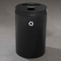 Round Painted Bottles and Cans and Paper Recycling Bin, 85765