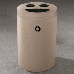 Round Painted Bottles and Cans Recycling and Waste Bin, 85767