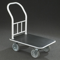 "Value Single Handle Platform Truck with Vinyl Deck - 40""L, 87541"