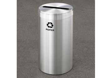 "Paper Recycling Unit in Satin Aluminum Finish 12"" Diameter, 82993"
