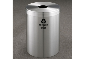"Bottles and Cans Recycling Unit in Satin Aluminum Finish 15"" Diameter, 82996"