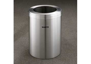 "Waste Unit in Satin Aluminum Finish 15"" Diameter, 82998"