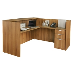 "Contemporary Reception Desk - 71"" x 72"", 15780"
