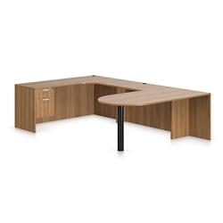 "Contemporary Left Peninsula U-Desk - 108""W x 71""D, 16027"