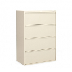 "Lockable Four Drawer Lateral File - 36""W, 30909"