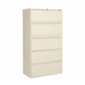 "Lockable Five Drawer Lateral File - 42""W, 30924"