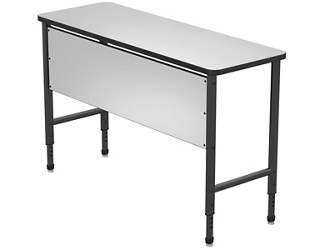 "Stand Up Desk with Marker Board Top and Panel - 60""W x 24""D, 220073"