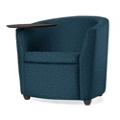 Fabric Round Tablet Arm Chair, 75684