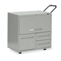 "30""W 3 Drawer Mobile Personal File with Storage, 75701"