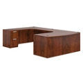 "Contemporary Bowfront U-Desk - 66""W x 120""D, 16025"