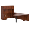 "Contemporary Peninsula U-Desk with Hutch - 71""W x 102""D, 16028"